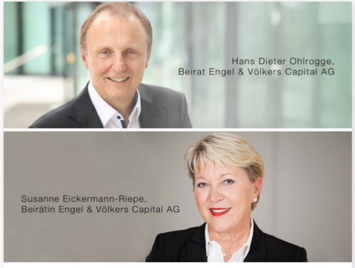 Engel & Völkers Capital - Experten in neuen Beirat Susanne Eickermann-Riepe und Hans Dieter Ohlrogge im Beratungsgremium