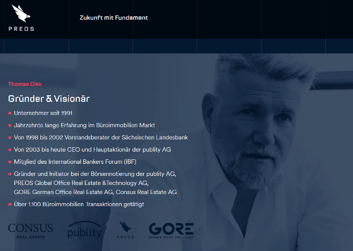 publity AG Aktien Umplatzierung - PREOS