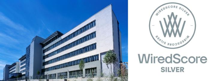 WiredScore Silber Auszeichnung - publity Bürohochhaus in Eschborn