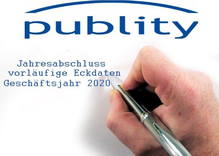 publity AG Jahresabschluss 2020 - die wichtigsten Eckdaten