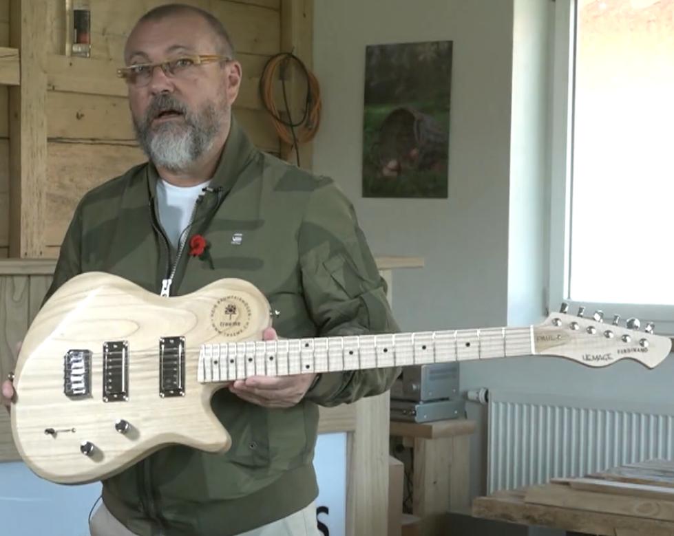 Wolfgang Goese produziert die leichteste Vollholz-Gitarre der Welt © Green Wood International AG